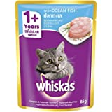 Whiskas Adult (+1 year) Wet Cat Food, Ocean Fish, 85g Pouch