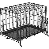 TecTake Cage de Transport pour Chien-Box grillagé | 2 Grandes Portes Équipées de verrous | Pliant - diverses Tailles au Choix (76 x 47 x 51 cm | no. 402294)