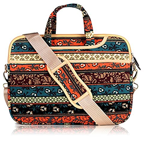 Multifunctional Boho Tablet Shoulder Bags Red Bohemian Yazer 13.3 Inch Laptop Carrying Handbag Shoulder Bag