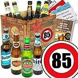 Ideen zum 85. Geburtstag für Männer | Bierbox mit Bier der Welt