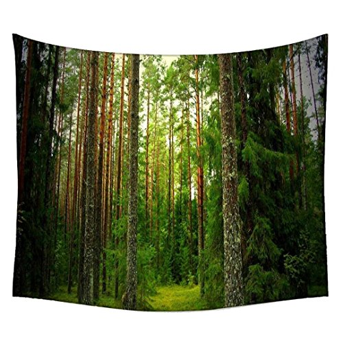 Snoogg Holz Bäume verwendet indischen Mandala Wandbehang Tapisserie Dekorative Wohnheim Wandteppichen Beach Picknick Tabelle Hippie Tapisserie Wand, Bohemian Gobelin