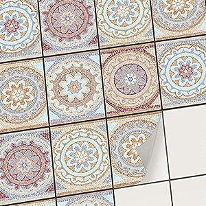 creatisto Klebefliesen Stickerfliesen Fliesenfolie - Klebe Folie für Wandfliesen I Klebefliesen Deko Folien für Fliesen in Küche u. Bad/Badezimmer (15x20 cm I 12 -Teilig)