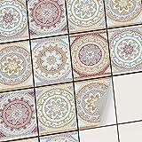 creatisto Klebefliesen Stickerfliesen Fliesenfolie - Klebe Folie für Wandfliesen | Klebefliesen Deko Folien für Fliesen in Küche u. Bad/Badezimmer (15x20 cm | 12 -Teilig)