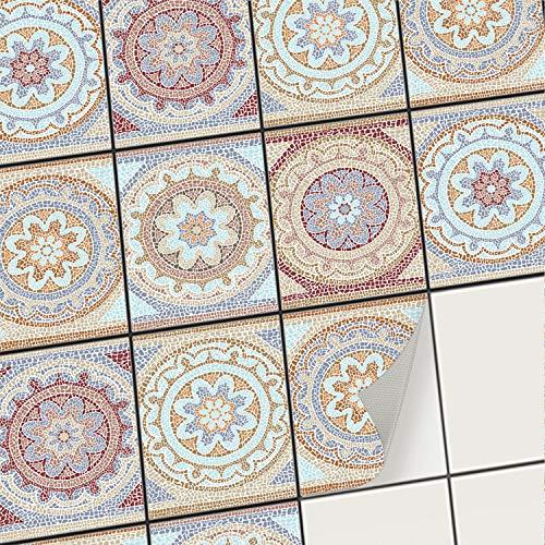 creatisto Mosaik-Fliesen Fliesenaufkleber Fliesenfolie - Klebe Folie für Wandfliesen | Klebefliesen Deko Folie für Fliesen in Küche u. Bad/Badezimmer (15x20 cm | 6 -Teilig)