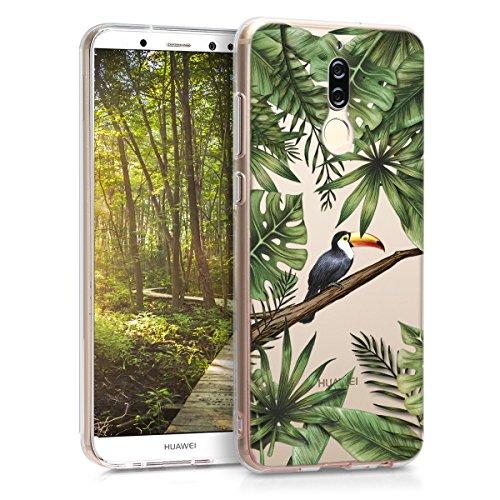 kwmobile Huawei Mate 10 Lite Hülle - Handyhülle für Huawei Mate 10 Lite - Handy Case in Grün Schwarz Transparent