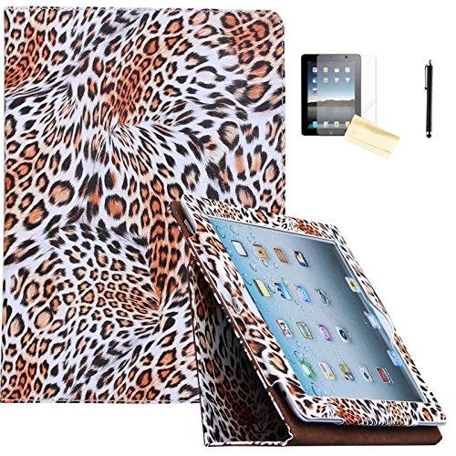 Air 2Hülle-jytrend (R) Folio Ständer magnetisch Smart Cover für Apple iPad Air (2013Version)/Air 2(2014Version) mit Auto Wake/Sleep, Leopard ()