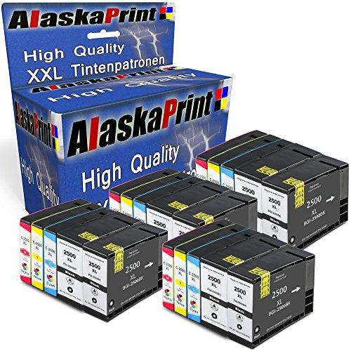 Preisvergleich Produktbild Alaskaprint 10er Set Druckerpatronen kompatibel für Canon PGI 2500 XL Multipack PGI 2500 XL für Canon Maxify MB4050 MB5050 MB5350 MB5050 MB5350 iB4050 Patronen (Canon 2500 XL Patronen)