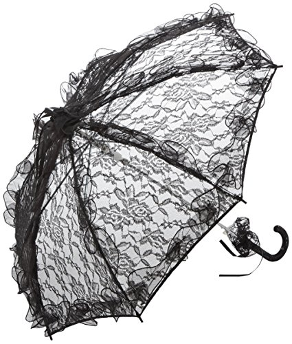 VON LILIENFELD Spitzenschirm Damen Accessoire Brautschirm Hochzeitsschirm Automatik Désirée schwarz