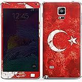 Samsung Galaxy Note 4 Case Skin Sticker aus Vinyl-Folie Aufkleber Türkiye Türkei Flagge