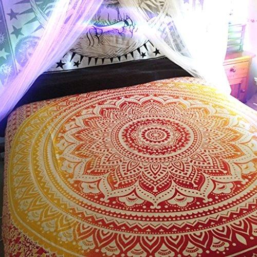 Indian Mandala Wandteppich werfen, Hippie Hippy Wandbehang Bohemain Bettwäsche Bettüberwurf,Cotton...