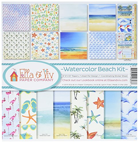 Unbekannt Erinnerung eav-803Watercolor Beach Collection Kit -