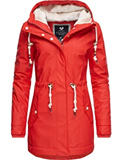 Ragwear Damen Winter Regenjacke Monadis Rainy gelb S