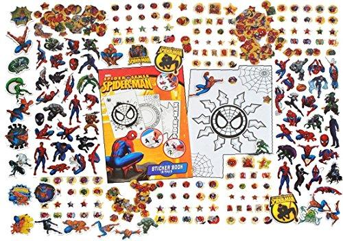 Unbekannt 500 TLG. XXL - Set - Spiderman Junge Sticker / Aufkleber mit StickerBlock - Kinder Kind Marvel groß Amazing Spider Man Spinne - Spider-Man / Ultimate - Sticke..