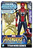 Hasbro Marvel Avengers Infinity War Iron Spider Titan Hero Power FX, Personaggio 30 cm, Action Figure, E0608103