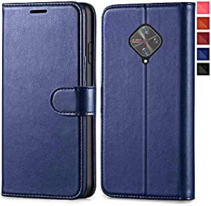 GoldKart® Flip Case for Vivo S1 Pro | PU Leather Wallet Stand | TPU Inside | Magnetic Closure | Back Case Cover for Vivo S1 Pro (Vivo S1 Pro, Blue)