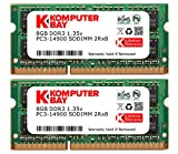 "Komputerbay 16GB Kit (2 x 8 GB) 204 pin DDR3-1867 1867MHz SO-DIMM (1866MHz / 1867MHz, PC3-14900) passend für Apple iMac Retina 27"" 5K (Late 2015) and PC"