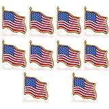 Zonfer 10PCS bandiera americana Independence Day perni del risvolto Spilla