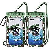 [Nouvealle Version] Mpow Pochette étanche Waterproof Téléphone Portable , Certifiée IPX8 Taile Universelle(6'' ) avec Mousqueton de Camping / Pêche / Randonnée et Cordon pour iPhone, Google Pixel, HTC, LG, Huawei, Sony, Nokia [2-Pack]