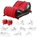 Sex Bed Inflatable Cushion Chair Sofa, Multipurpose Inflatable Sex Lumbar Cushion, Bondage Sex Furniture with Handcuffed…