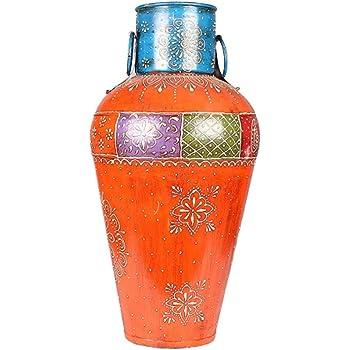 APKAMART Handicraft Metal Flower Vase - 18 Inch Height - Handcrafted Corner Pot for Corner Showpiece, Home Decor, Room Decor and Gifts