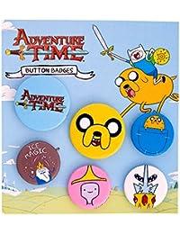 Set de seis chapas de Jake de Adventure Time