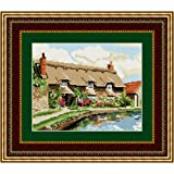 Brigantia Needlework Thornton Le Dale Cottage Tapestry Picture Kit in Tent Stitch