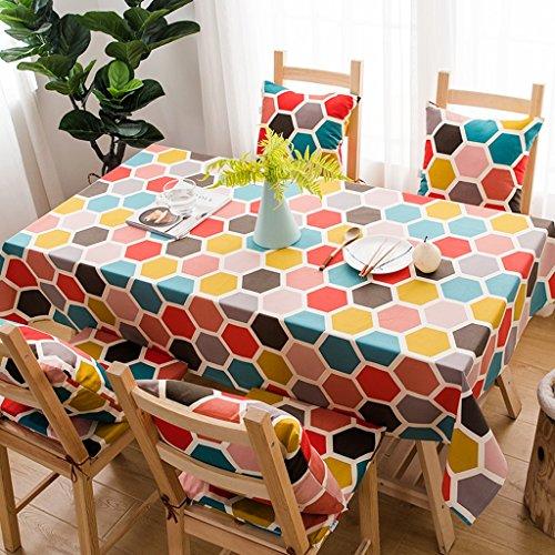 isierte Farben Tischdecken Tisch rechteckige Tischdecken Camping Tischwäsche im Freien moderne Tischdecken aus Leinen ( Size : 140*220cm ) (Personalisierte Tischdecken)
