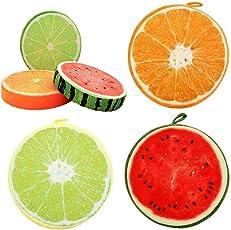 FastUnbox Imported Designer Lemon, Orange, Watermelon Fruit Stuffed Soft Toy Plush Pillow Cushion Set of 3 Piece