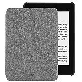 EasyAcc Hülle für Kindle Paperwhite 2018 10. Generation, Ultra Dünn Smartshell Case mit Auto Sleep/Wake up Funktion Kompatibel für Modelle der Kindle Paperwhite (10. Generation – 2018) - Grau