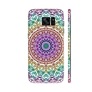 Colorpur Mandala Mehndi Style Printed Back Case Cover for Samsung S7 Edge