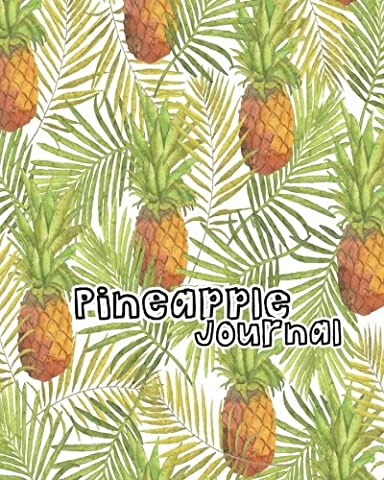 pineapple journal: pattern notebook: 100 pages: blank paper:8x10 inch