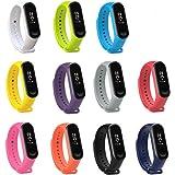 KOMI Correa de reloj compatible con Xiaomi mi Band 4 / Mi Band 3, correa de repuesto para deportes de fitness y fitness