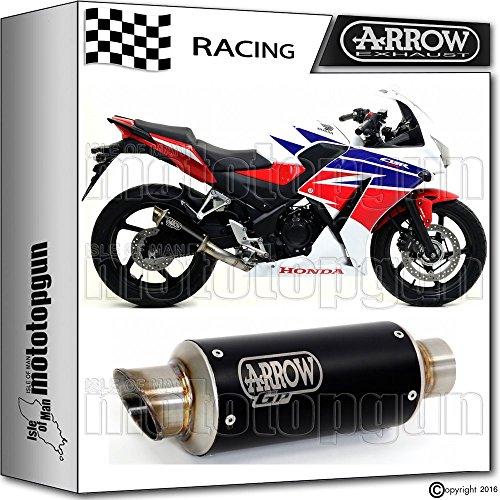 ARROW ENDTOPF DB-KILLER GP2 STAHL DARK RACE HONDA CBR 300-R 2016 16 71012GPI + 11009DB