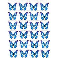24 nd9 mariposas cupcakes comestibles para tartas 4 cm sobre papel de arroz