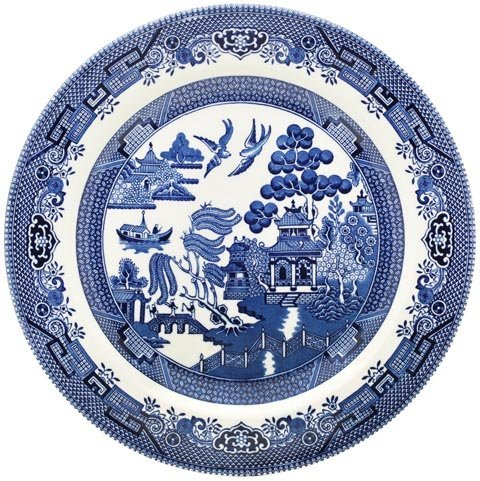 Churchill Blue Willow Teller 20cm (6er Set) Churchill China Willow