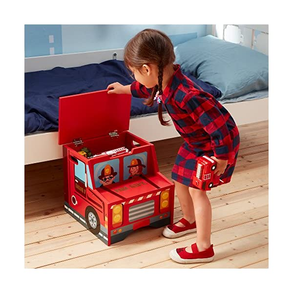 Fantasy Fields - Little Fire Fighters Hand Painted Step Stool with Storage Fantasy Fields By Teamson Lightweight design for easy portability with carry handles either side. dimensions 33.02 x 34.29 x 30.48 cm Top step has a lid that opens up to reveal a handy storage space. perfect for helping your child to reach the sink to brush their teeth. Teach your kids colour and character recognition and enhance their imaginative minds. great for encouraging children's independence 3