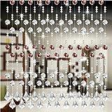 Windows Vorhänge, squarex 1PCS Kristall Glas Bead Vorhang Luxus Wohnzimmer Schlafzimmer Fenster Tür Hochzeit Decor, g, AS SHOW