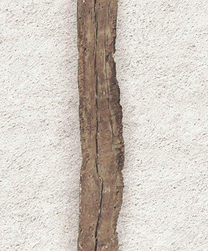 UGEPA, Carta da parati in tessuto non tessuto, motivo: Intonaco grezzo con travi in legno, Beige, J98807