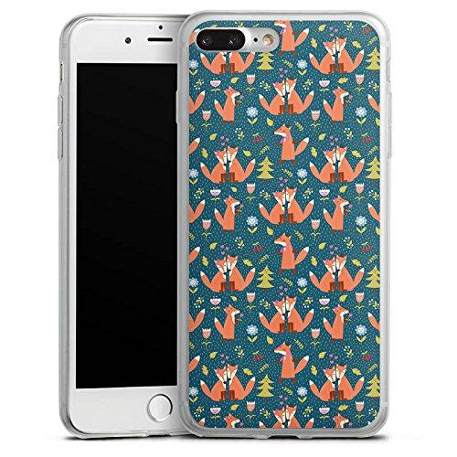 Apple iPhone 8 Plus Slim Case Silikon Hülle Schutzhülle Fuchs Comic Liebe Love Silikon Slim Case transparent
