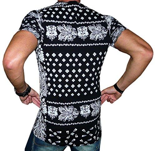 Redbridge by Cipo&Baxx T-Shirt Longshirt Super Optik Rückenprint Grössen S-M-L-XL Schwarz