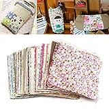 100 pcs Square Floral Cotton Material Nähen Handwerk DIY