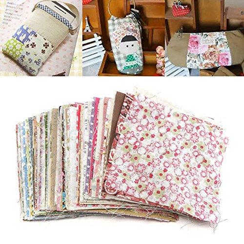 100 pcs Square Floral Cotton Material Nähen Handwerk DIY Patchwork Tuch 10 x 10 cm