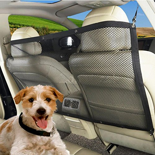 Pet Isolation Network,Saihui Adjustable Car Auto Back Guard Seat Dog Children Pet Mesh Safety Oxford Net Barrier For cars, vans, SUV's, and trucks
