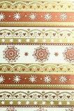 Geschenkpapier 50x70cm 80g Weihnachten Premium Muster gold weiß kupfer - Liefermenge 25 Stück