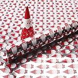 Justdolife 1 Rolle Weihnachten Geschenkpapier Schneeflocke Santa Muster Handwerk Geschenkpapier