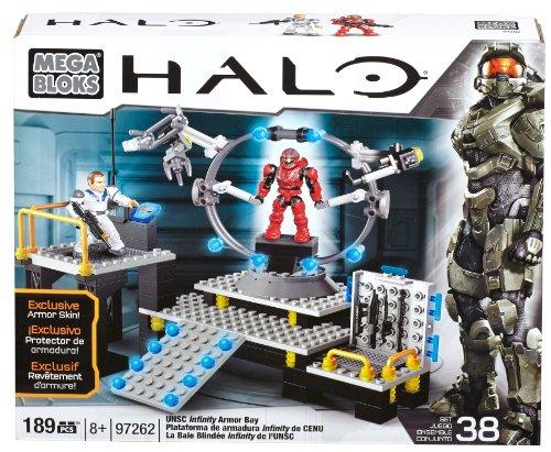 Mega Bloks 97262 - Halo UNSC Infinity Amor Bay, Konstruktionsspielzeug (Blocks Mega Halo-waffen)