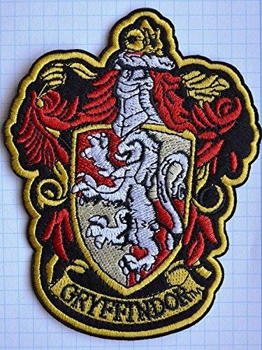 Harry Potter Gryffindor Schule bestickt abzeichen Patch Aufnäher oder zum Aufbügeln 9cm x 11,5cm