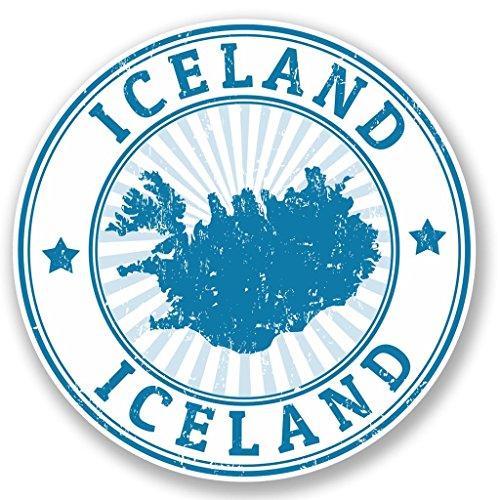 Preisvergleich Produktbild 2x Island Vinyl Aufkleber Aufkleber Laptop Reise Gepäck Auto Ipad Schild Fun # 4714 - 10cm/100mm Wide