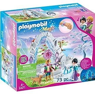 PLAYMOBIL Magic Portal de Cristal al Mundo de Invierno con Efecto de Luz y Brazalete Mágico, A partir de 4 años (9471)