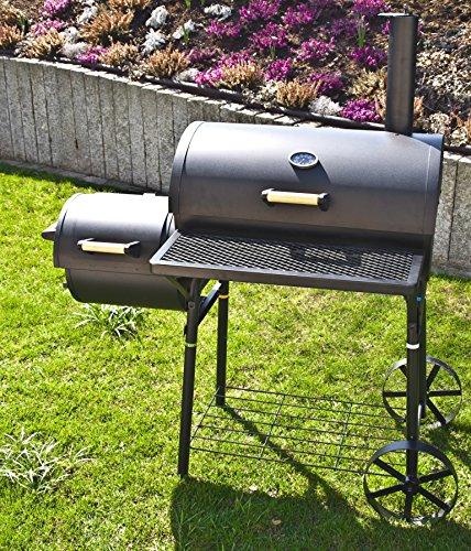 El Fuego Holzkohlegrill/Smoker Dakota, Schwarz, 122x133x66 cm - 3